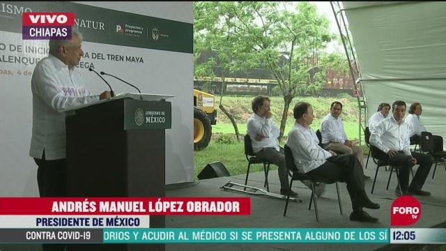 amlo da banderazo a las obras del tramo uno del tren maya