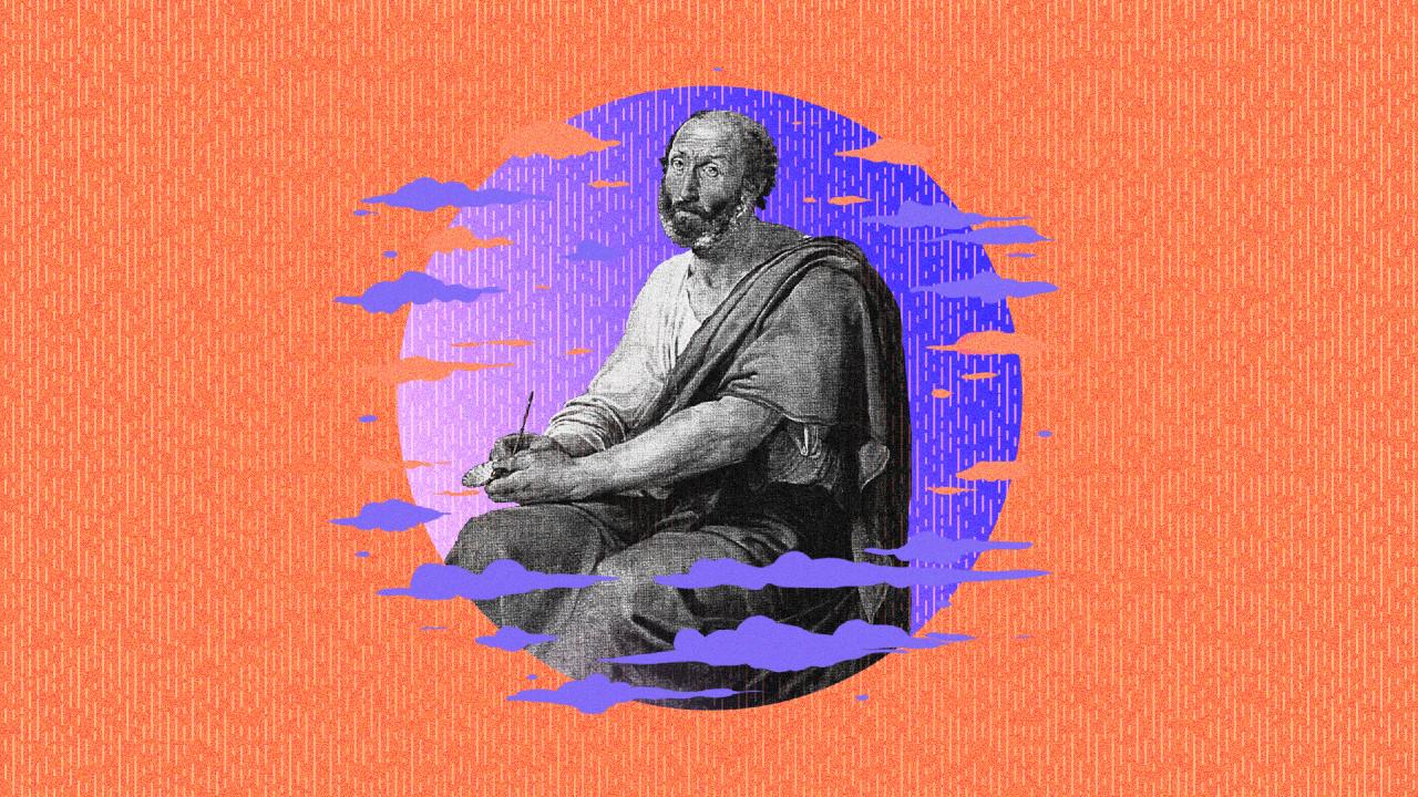 Aristóteles y la clave para encontrar la felicidad, ilustración