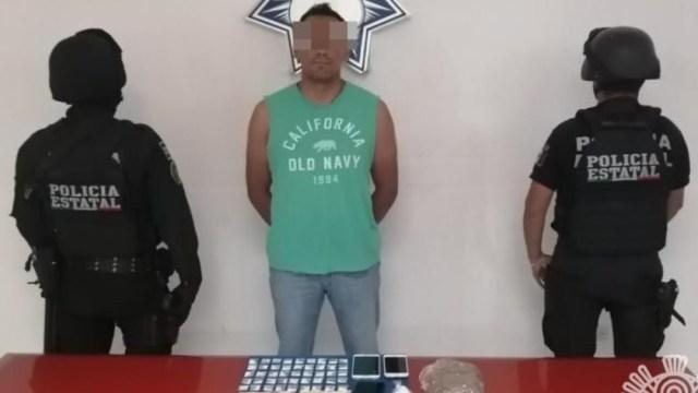 """Policías de la SSP de Puebla detuvo a Armando """"N"""". SSP"""