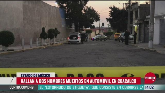 FOTO: 7 de junio 2020, asesinan a dos al interior de su vehiculo en coacalco