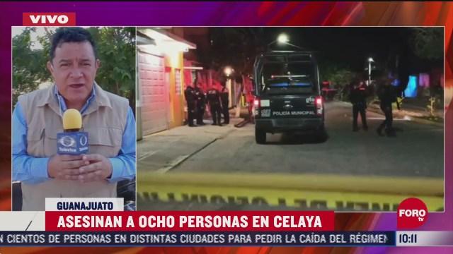 FOTO: 20 de junio 2020, ataques armados dejan 8 muertos en celaya guanajuato