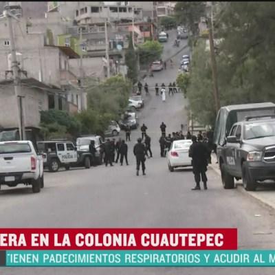 Balacera en Cuautepec deja una persona muerta