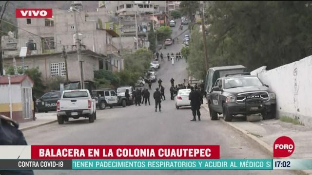 FOTO: balacera en cuautepec deja una persona muerta
