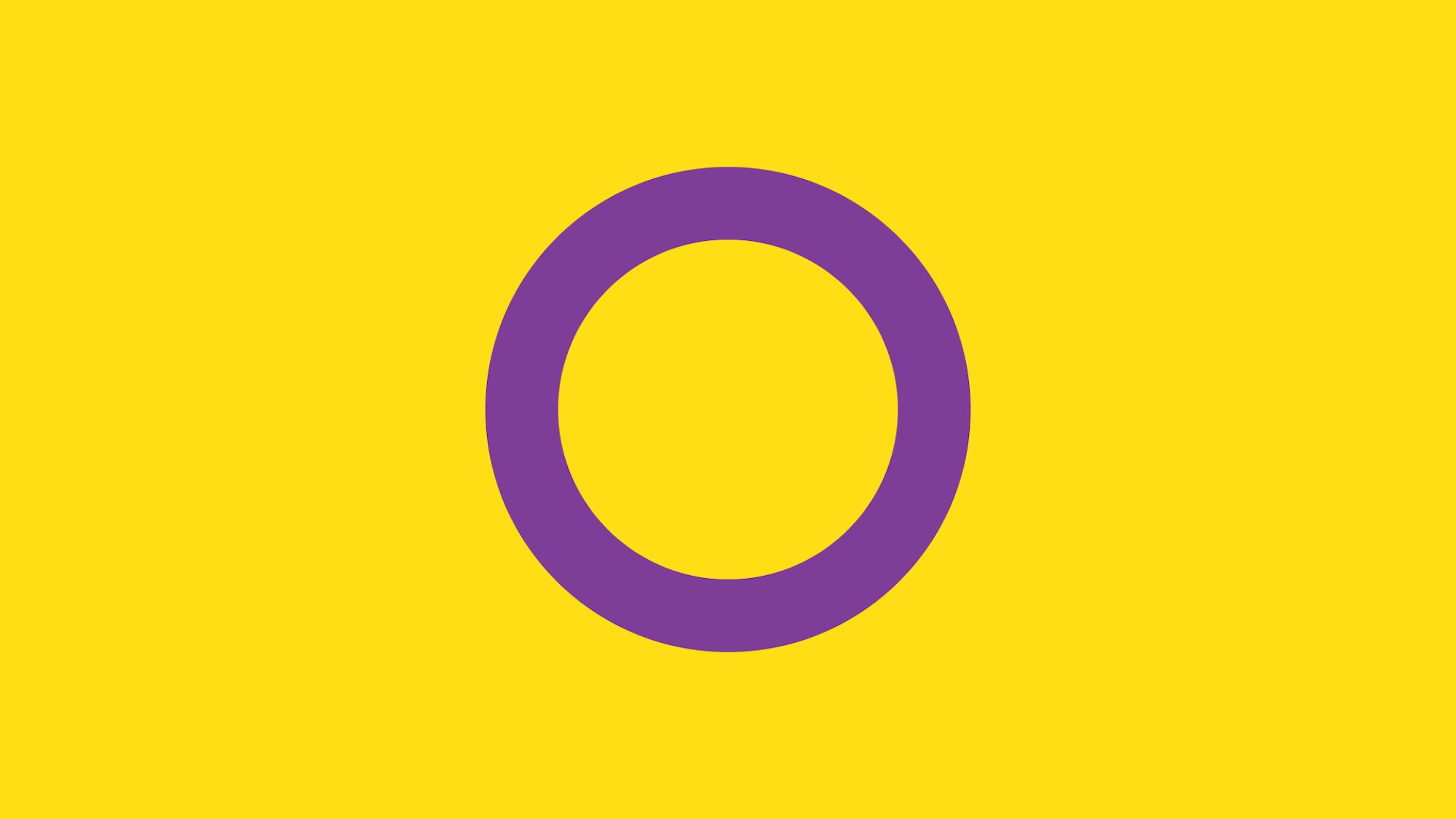 Bandera Orgullo Intersexual Imagen
