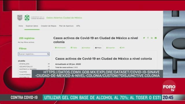 cdmx presenta mapa de casos activos de covid