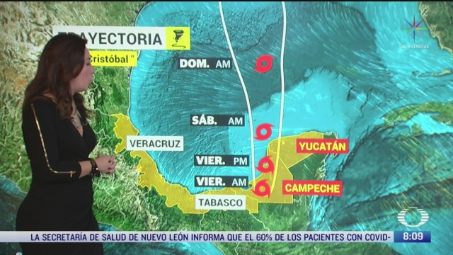 clima al aire depresion tropical cristobal provocara lluvias en sureste de mexico