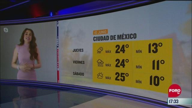 clima de la tarde del 10 de junio de 2020 con mayte carranco