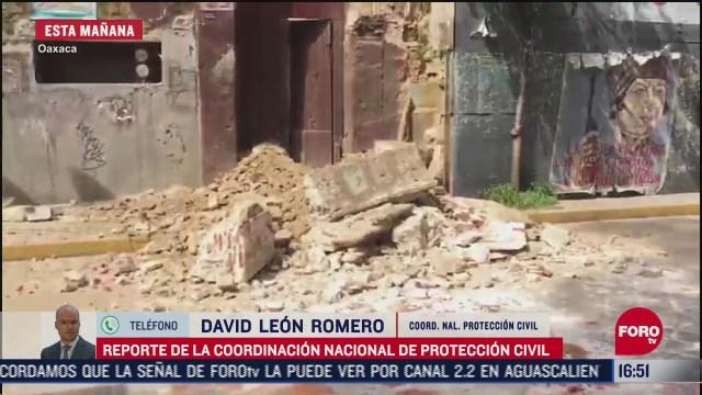 FOTO: confirman 5 muertos en oaxaca tras sismo de