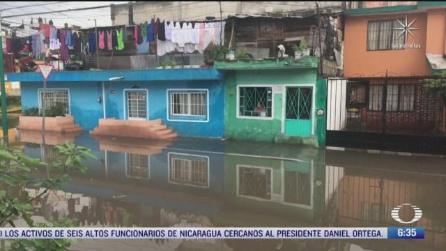 decenas de colonias se inundan en xalapa veracruz por lluvias