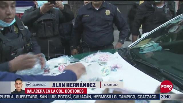 detienen a un hombre por balacera en la colonia doctores cdmx