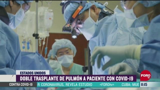 doble trasplante de pulmon a paciente con covid