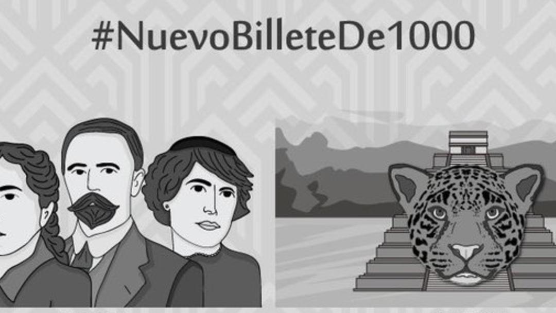 Así será el nuevo billete de mil pesos; reemplazarán a Hidalgo (Banxico)