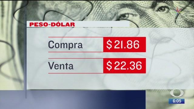 el dolar se vendio en 22 36 en la cdmx