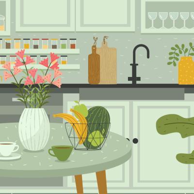 ¿Nos ayudas a encontrar al gatito y otros 4 objetos en esta cocina?