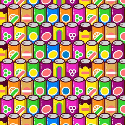 Escondieron 4 latas diferentes entre estos refrescos... ¿puedes verlas?
