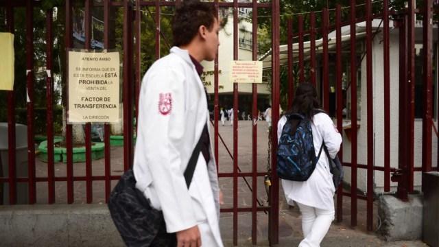 Estudiantes de la escuela de Medicina del IPN. Cuartoscuro