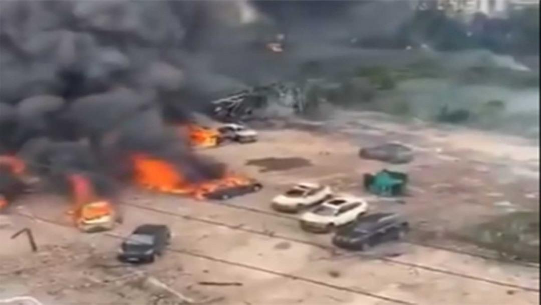 Mueren 10 tras explosión de camión cisterna en China – Noticieros Televisa