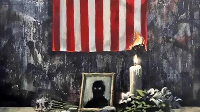 Foto: Banksy rinde homenaje a George Floyd con nueva obra artística, 6 de junio de 2020, (Banksy)