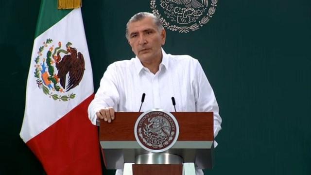 Adán Augusto López Hernández, Gobernador de Tabasco, en conferencia de prensa. (Foto: Redes sociales Gobierno de México)