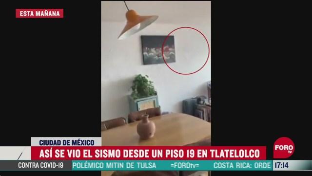 FOTO: graban sismo de magnitud 7 5 desde un piso 19 en tlatelolco