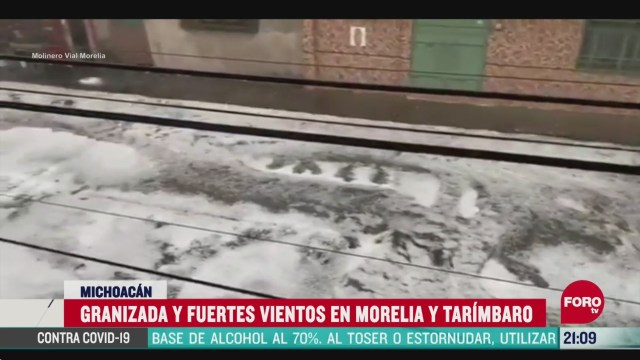 video granizada en morelia michoacán
