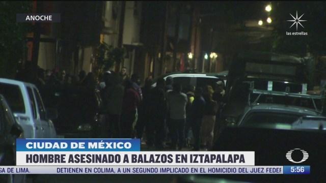 Asesinan a hombre en calles de la alcaldía Iztapalapa en CDMX