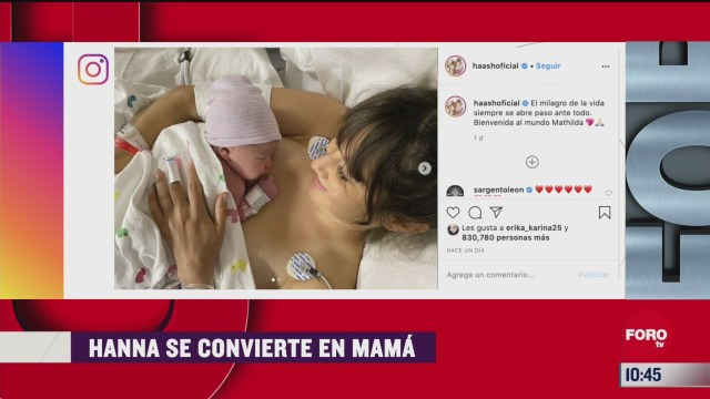 hanna integrante de haash divulga video del nacimiento de su hija mathilda