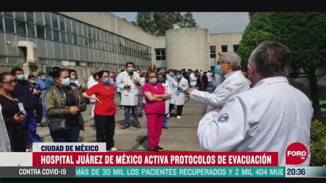 hospital juarez de mexico activa protocolos de evacuacion por sismo