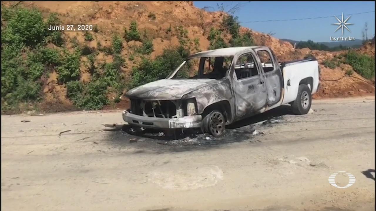 patrulla quemada en Chiapas impiden fumigaciones por temor a COVID
