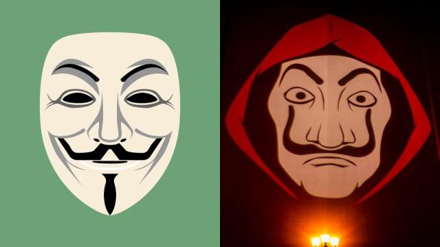 mascara-anonymous-fondo-verde-mascara-casa-de-papel-salvador-dali