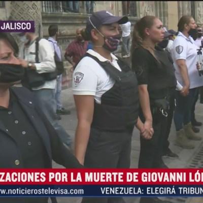 Mujeres policía acompañan marcha en Guadalajara, Jalisco