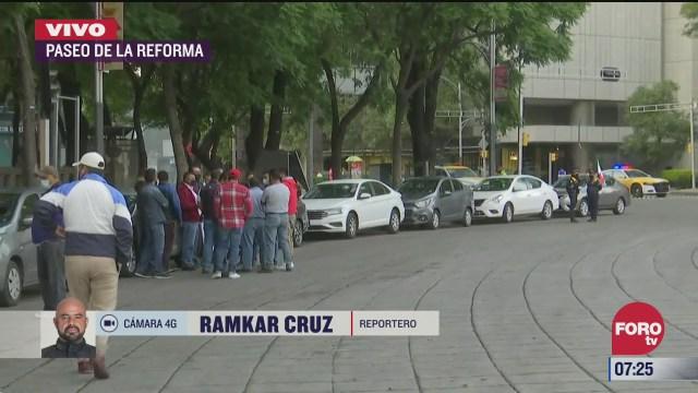 operadores de taxis de plataforma protestaran en la cdmx