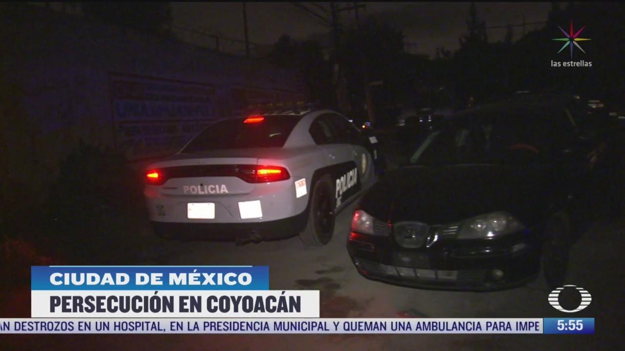 persecucion policiaca termina con un detenido en alcaldia coyoacan en cdmx