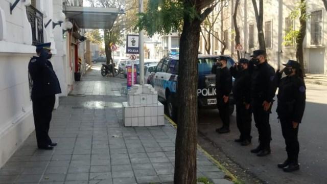 Un grupo de policías en Buenos Aires. (@somos_bahia)