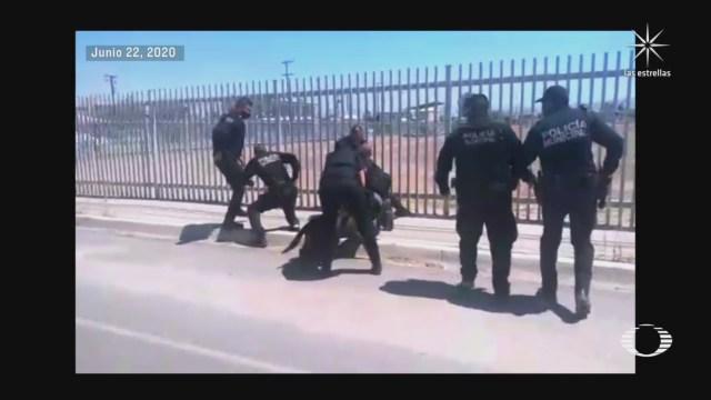 policia de mexicali evita suicidio de un migrante