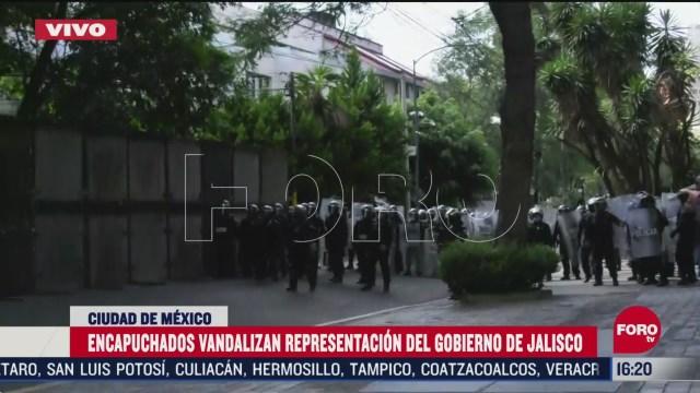 FOTO: policias resguardan casa de gobierno de jalisco en cdmx