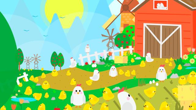 ¿Puedes encontrar 10 objetos perdidos en esta granja de pollitos?