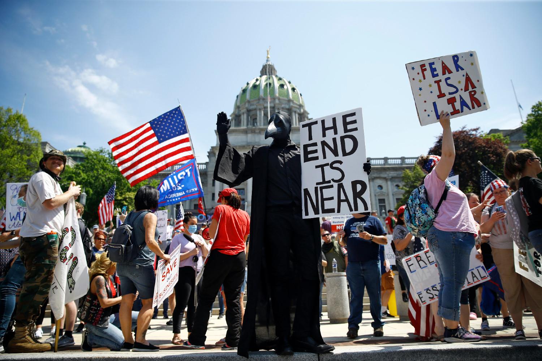 Protesta en Harrisbug, Estados Unidos, coronavirus