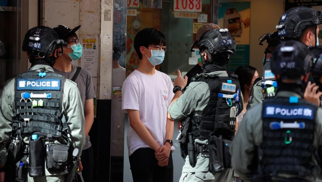Protestan en China contra la ley de seguridad para Hong Kong