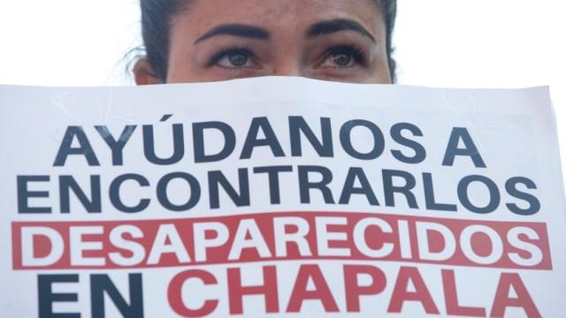 Cientos protestan por desaparecidos en Chapala, Jalisco. Efe