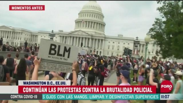 realizan protestas frente al capitolio en washington eeuu