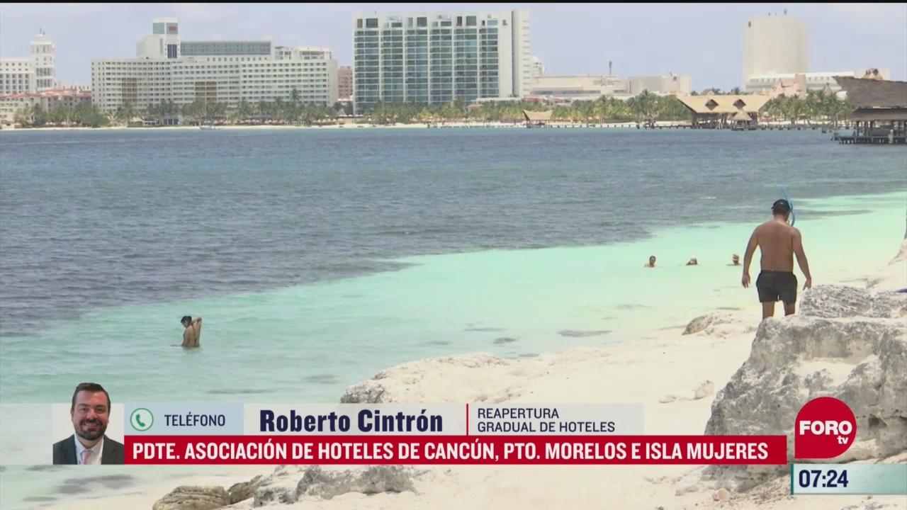 reapertura gradual de hoteles en cancun