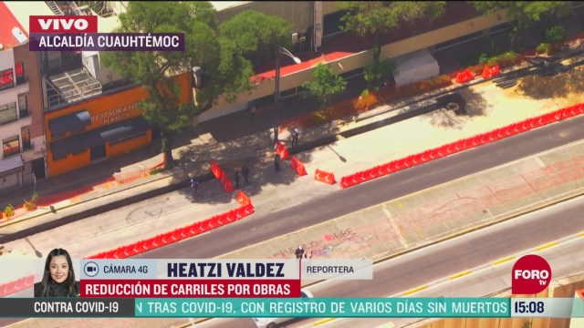 FOTO: reducen carriles en avenida chapultepec por obras