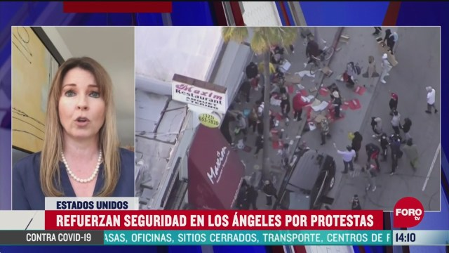 FOTO: refuerzan seguridad en los angeles por protestas