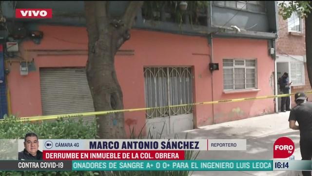 reportan derrumbe en la colonia obrera tras sismo del martes