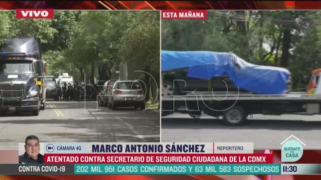 retiran camioneta donde viajaba el secretario de seguridad ciudadana omar garcia harfuch