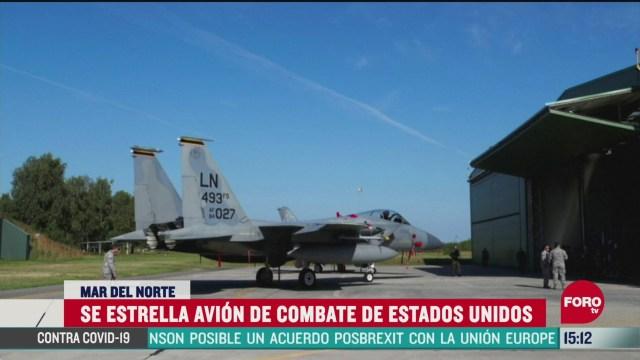 FOTO: se estrella avion de combate de eeuu en reino unido