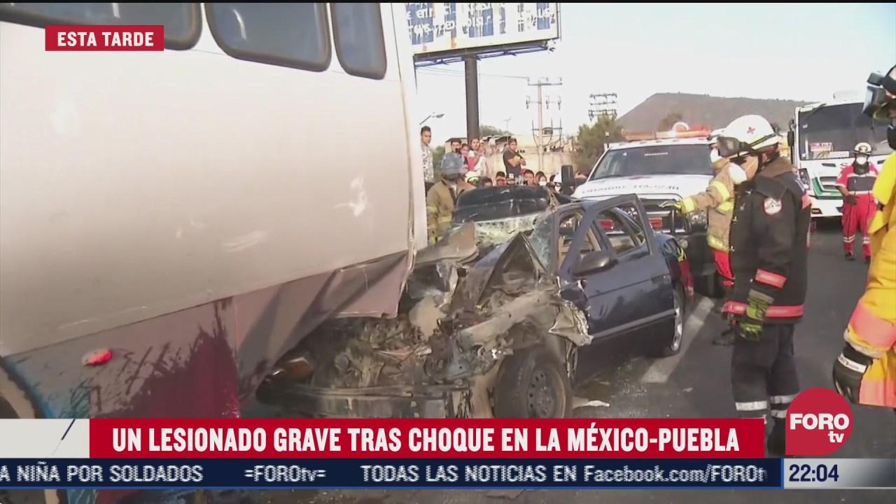 FOTO: 28 de junio 2020, se registra fuerte accidente en la mexico puebla por mezclar el volante con el alcohol