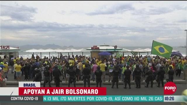 FOTO: 7 de junio 2020,simpatizantes de jair bolsonaro se reunen en las playas de copacabana