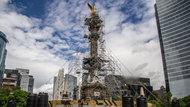 Restauración Ángel de la Independencia, cuartoscuro archivo